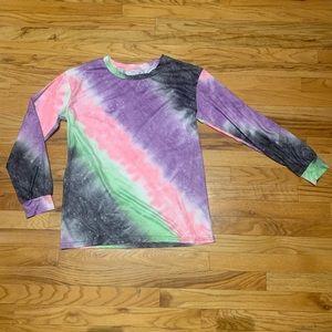 Tops - Space-tie-dye print, long sleeve Tee